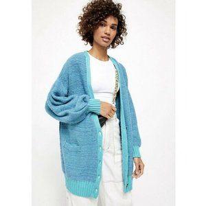 Free People Snow Drop Cardigan Sweater Nile Size S